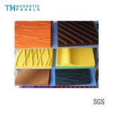 Écran 3D antibruit décoratif intérieur de fibre de polyester d'imperméabilisation de l'eau pour le panneau de mur