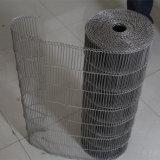 Courroie de courroie de fil plat d'acier inoxydable/fil de convoyeur
