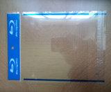Enige Transparante Koker OPP voor CD/DVD met Dubbele Blauwe Ray Logo