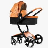 Luifel 2 van het Leer van de fabriek direct in 1 Wandelwagen van de Baby Foofoo voor Levering voor doorverkoop