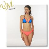 Пользовательские моды контрастный цвет купальный костюм взять с собой купальник бикини