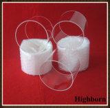 Transparente personalizado polaco de la brida de cristal de cuarzo.