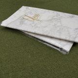 Cxz-035 venden al por mayor el cuaderno de mármol chino de la puntada de la hoja de oro de la promoción A5