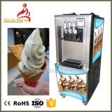 Bancada Soft servem sorvete máquina com suporte de cones