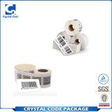 Troqueladas personalizado resistente al agua de la etiqueta etiqueta de código de barras UPC
