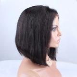 Parrucche piene centrali nere naturali del merletto dei capelli umani del Bob della parte