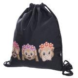 Emoji Gymsack Sackpack, équipe de formation coulisse sac à dos sac sac sac de sport pour les adolescents Emoji Stuff