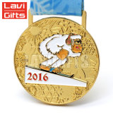 El logotipo de Papá Noel personalizados mayoreo Premios Medalla de metal