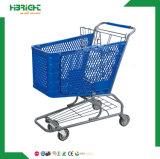 Diseño ligero y duradero y de plástico puro Carrito de compras de supermercado