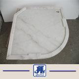 Bianco Cararra 목욕탕 대리석 도와를 위한 백색 대리석 샤워 쟁반 기초