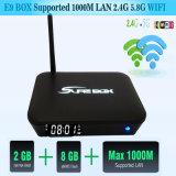 Cadre du WiFi TV de la qualité E9 Amlogic S912 2.4G 5.8g