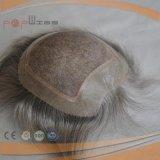 灰色のインドの毛の人のToupee (PPG-l-0909)