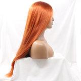 Парик волос Dlme мягко ровный померанцовый прямой синтетический