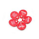 Colore rosso cinese più poco costoso T5577 RFID rotondo Keyfob di cuoio per il campione libero