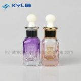 Haut de Gamme Gradient vide violet 20ml Cosmetic bouteille en verre avec bouchon de chute