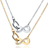 Ocho de la moda joyas de oro plata joyas collar de diamantes