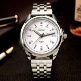 Escala cristalina del reloj de los hombres de negocios de H331-S de la manera de la alta calidad del reloj de acero de los hombres