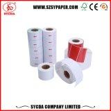 De la impresión papel de escritura de la etiqueta auto-adhesivo termal de la calidad claramente