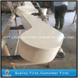 Controsoffitto di pietra del quarzo, pietra artificiale bianca pura del quarzo