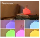 실리콘 토끼 밤 램프 LED 밤 빛