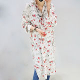 Chica patrón floral Long-Style Escudo de Ocio