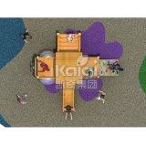 Kaiqi pequeno - campo de jogos de madeira feito sob medida do estilo para as crianças (KQ60079A)