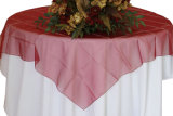 Tissu carré de recouvrement de Tableau d'organza pour l'approvisionnement de décoration de noce