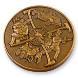 Het aangepaste Muntstuk van het Metaal van het Embleem van de Hond Lege Militaire Gouden (mc-04)