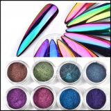 Luminoso de neón precioso espejo cromado Glitter Polvo Polvo de pigmento de la manicura