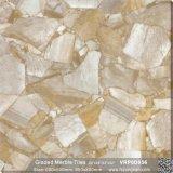 Lleno de color rojo cristal pulido azulejos de porcelana para la decoración (VRP6D004, 600x600mm)