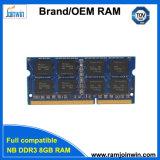 휴대용 퍼스널 컴퓨터를 위한 빠른 납품 DDR3 8GB 1600MHz 램 기억 장치 유형