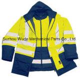 Полиэстер Оксфорд ПВХ/PU Non-Breathable/PU Дышащий слой Светоотражающая одежда Worksuit трость
