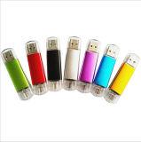 привод вспышки USB изготовленный на заказ сотового телефона двойной OTG логоса 4-64GB передвижного (YT-1201-03)
