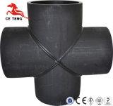 Ajustage de précision en travers de HDPE à haute pression de pipe de noir de qualité de constructeur