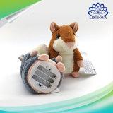 Jouets bourrés par peluche record parlants interactifs électroniques parlants russes d'animal familier de hamster pour des enfants de bébé