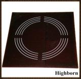 De zwarte Ceramische Plaat van het Glas voor het Dienblad van de Microgolf