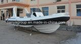Liya 25FT bateau en fibre de verre Dinghy large nervure Yatch