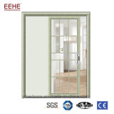 Grandes portes en verre de glissement commerciales, blanc glissant les portes en aluminium de patio