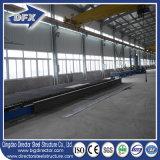 Oficina galvanizada multi extensão da construção de aço do baixo custo de China com guindaste