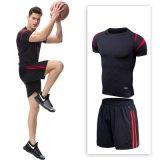 Одежда людей, люди 2PCS пригодности спортов установила быстро сухие верхнюю часть тенниски & краткости, Multi конструкцию