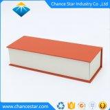 磁気閉鎖が付いているカスタム本様式のクラフト紙のボール紙の茶ボックス