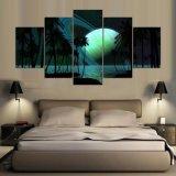 5 foto delle camere da letto dei saloni delle pareti di immagini di arte delle pitture a olio del cielo HD Saturno delle palme dei comitati