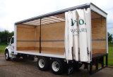 Coperchio poco costoso della tela incatramata del camion stampato marchio d'argento con i gommini di protezione