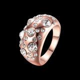 Juwelen van de manier namen de Gouden Geplateerde Ring van het Bergkristal voor Meisjes toe