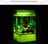 Tanque de peixes acrílico Self-Cleaning com luz do diodo emissor de luz