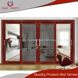 Puerta deslizante de cristal de aluminio de las pistas triples con la pantalla y los obturadores