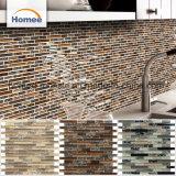 Mattonelle di mosaico di vetro di pietra grige della striscia del fumo di cristallo lucido della fabbrica