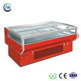 Supermercado Auto-Defrost Ilha da porta de vidro freezer com a Europa Style (RG-15G)