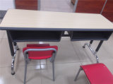 El escritorio popular del doble de la escuela de los muebles del estudiante fijó para la venta (SF-59)