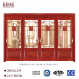 Puerta de madera del sitio de puerta interior de la puerta del último diseño con el vidrio